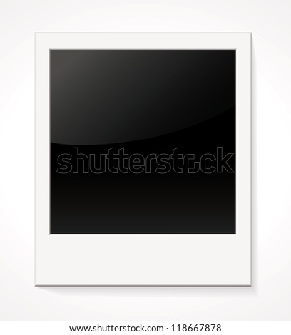 Empty shiny photo frame. Isolated on white background. Vector illustration - stock vector