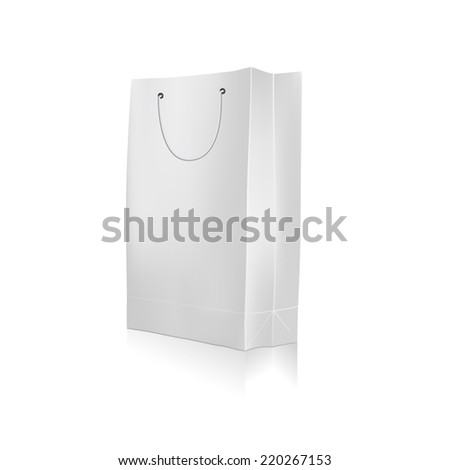 Empty Shopping Bag for advertising and branding on white background