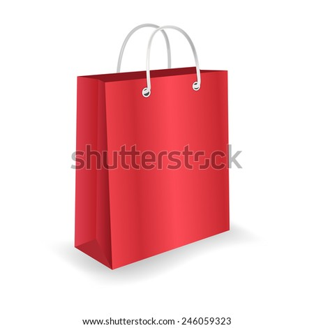 Empty shopping bag isolated on white background.Vector illustration