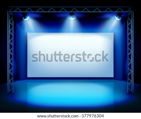 Empty show stage. Vector illustration. - stock vector