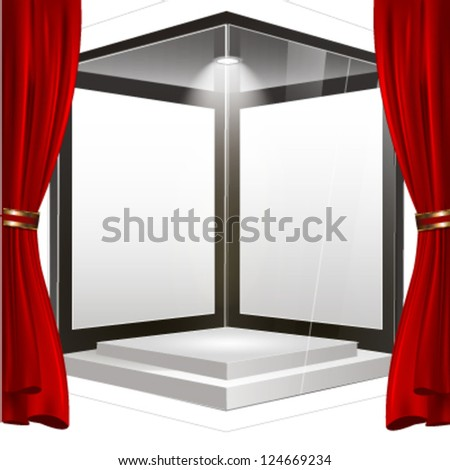Empty showcase or storefront to place your object. vector design - stock vector