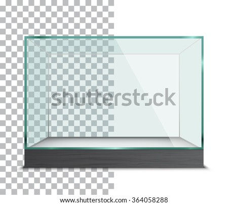 Empty Showcase. Vector Illustration - stock vector