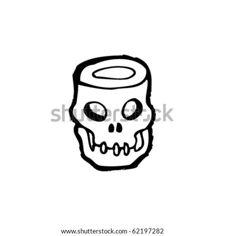 empty skull cartoon - stock vector