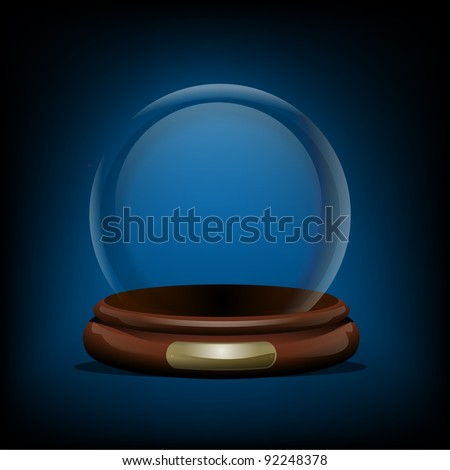 Empty Snow Globe - stock vector