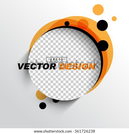empty space round frame with checkered background, orange black round dot elements background design