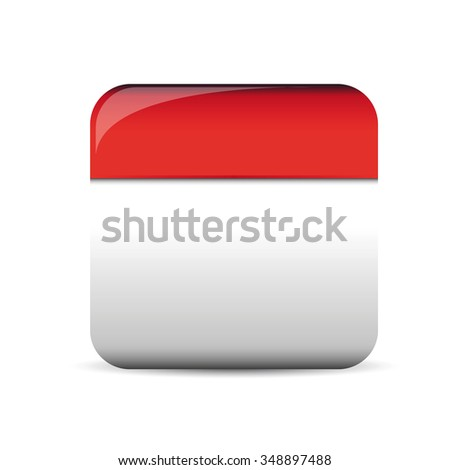 Empty square button vector - stock vector