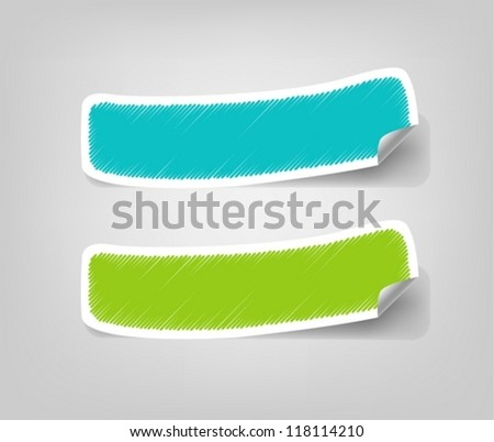 Empty Stickers - stock vector