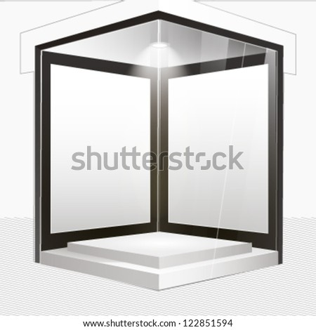 empty storefront to place your object. - stock vector