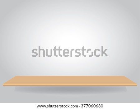 Empty top of  shelves with wall background. For product display