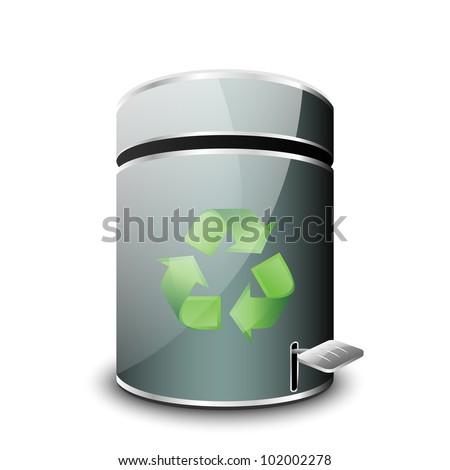 Empty Trash Bin Icon. Vector - stock vector
