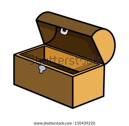 Empty Trunk - Cartoon Vector Illustration