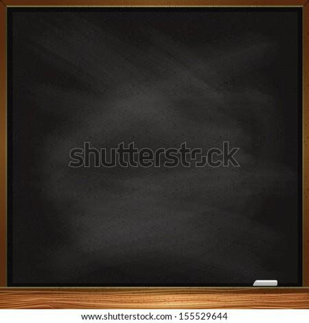 Empty vector blackboard - stock vector