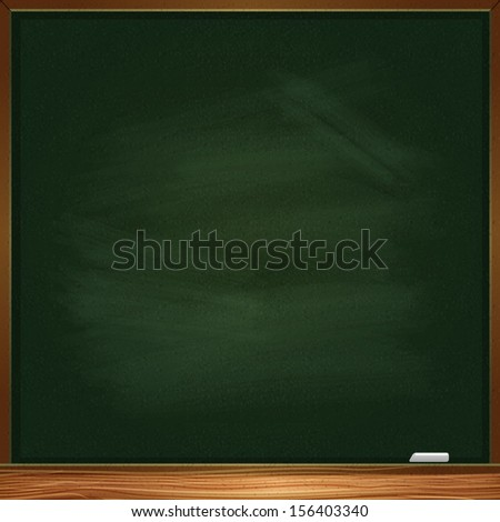 Empty vector blackboard - stock vector