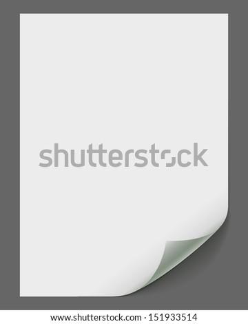 Empty vector paper sheet - stock vector