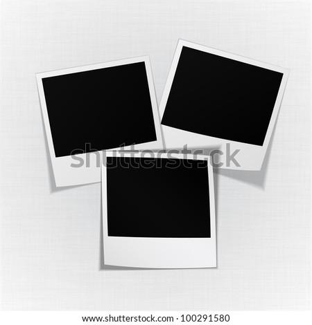 Empty vector realistic photo stickers. - stock vector