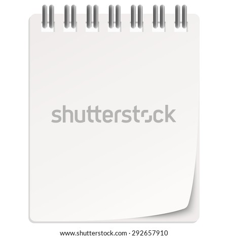 empty white calendar with turned over page - stock vector