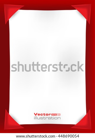 Empty white page on a red background