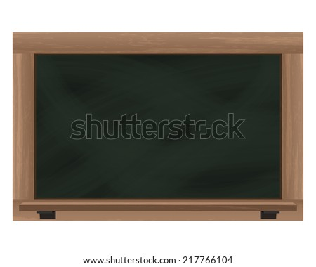 empty wide blackboard frame object isolated vector illustration