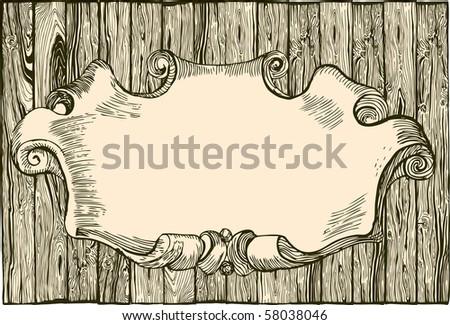 Empty wooden plank - stock vector