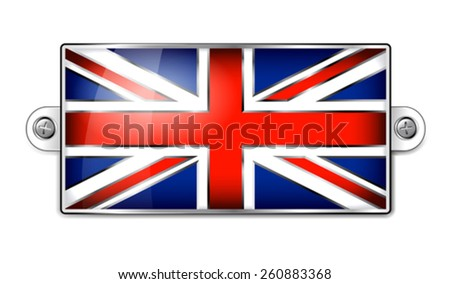 Enamel British Union Jack Flag  - stock vector
