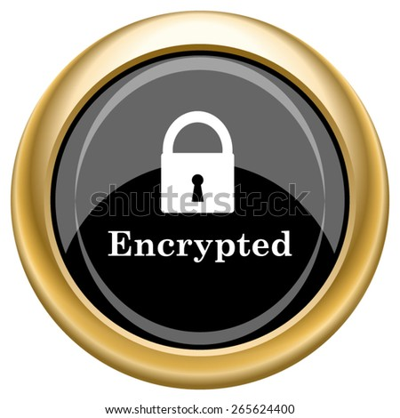 Encrypted icon. Internet button on white  background. EPS10 Vector.