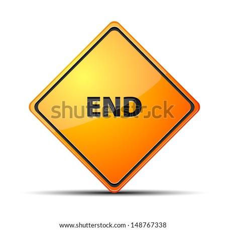 End - stock vector