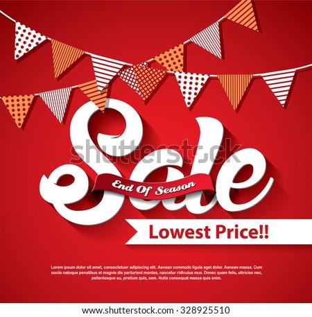 End of Season Sale - stock vector