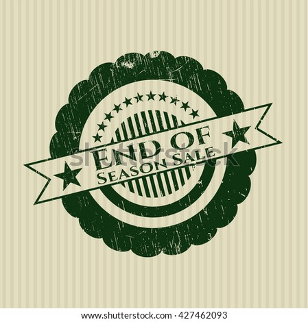 End of Season Sale grunge style stamp