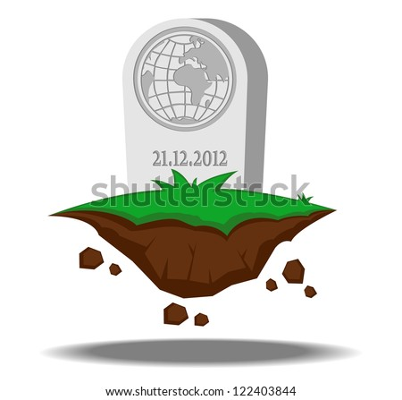 end of the world. abstract vector illustration - stock vector