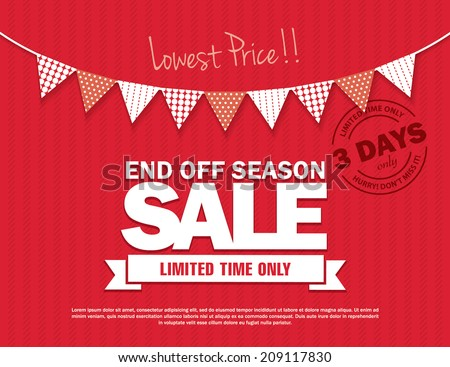 End Off Season Sale - stock vector