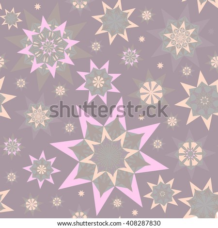 Endless abstract pattern with stars. Seamless texture - stock vector - stock vector