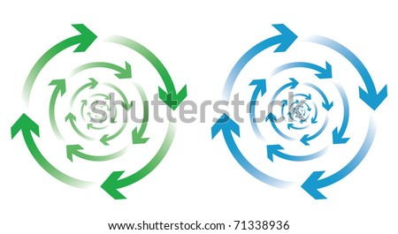 Endless circle arrows, business process diagram - stock vector