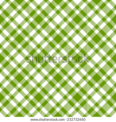 endless green checkered table cloths pattern vector - stock vector