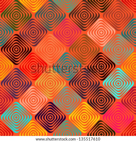 Endless pattern with squares - stock vector