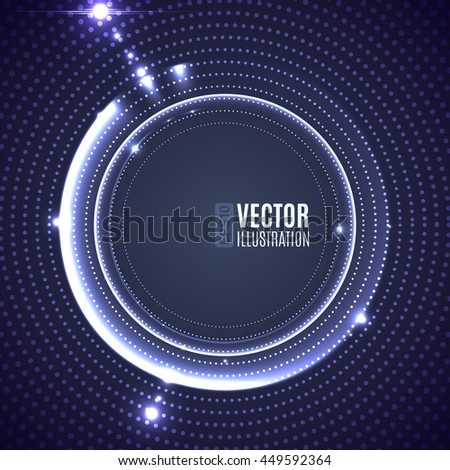 Energy abstract glow light circles - stock vector