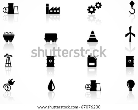 Energy and industry icons set - stock vector