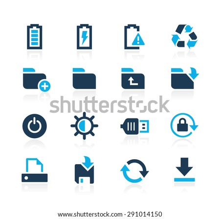 Energy and Storage Icons // Azure Series - stock vector