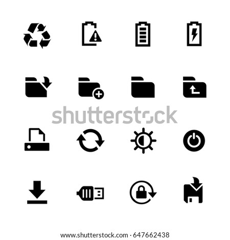 Energy and Storage Icons // Black Series - Vector icons for your digital or print projects.