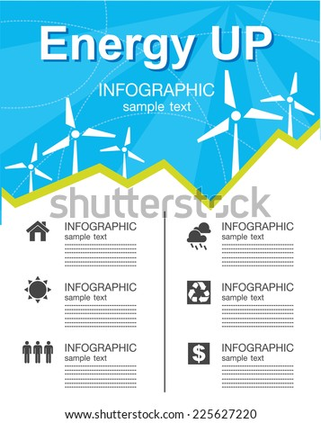 Energy  chart  Infographics - stock vector