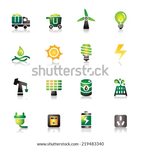 Energy Colorful Icons - stock vector
