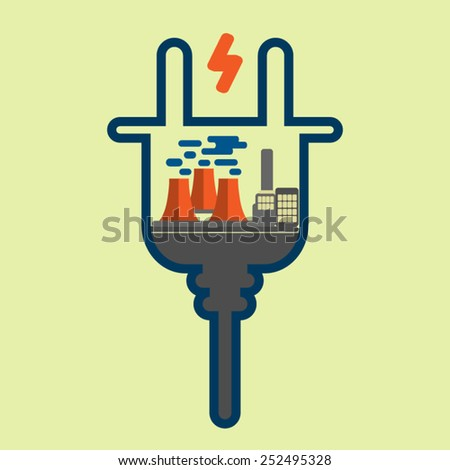 energy concept - stock vector