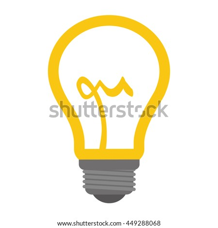 Energy concept represented by light bulb icon. isolated and flat illustration