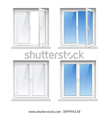 Four pane stock images royalty free images vectors for Energy saving windows cost