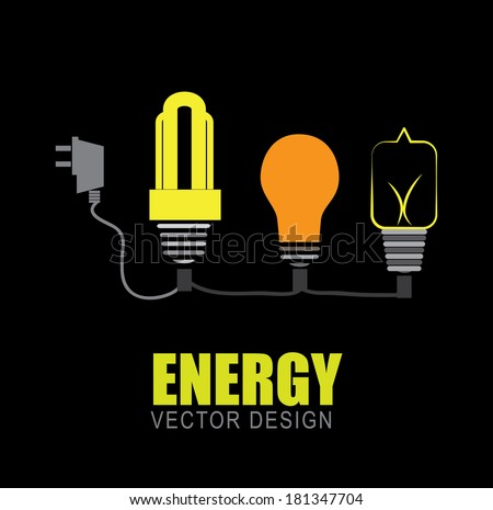 energy design over black background, vector illustration - stock vector