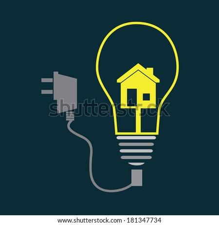 energy design over blue background, vector illustration - stock vector
