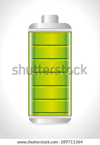 Energy design over white background, vector illustration.