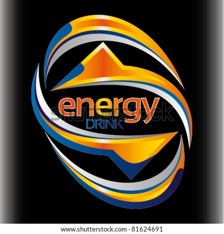 Astonishing energy drink vector images