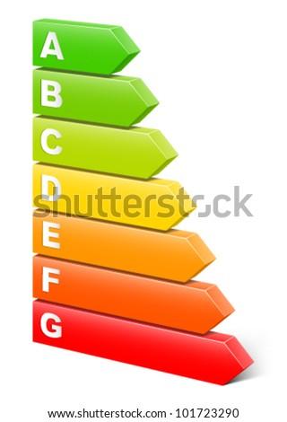 Energy efficiency rating. - stock vector
