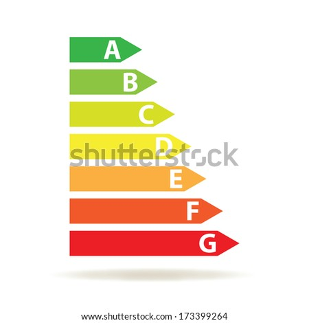 energy efficiency rating (vector illustration)