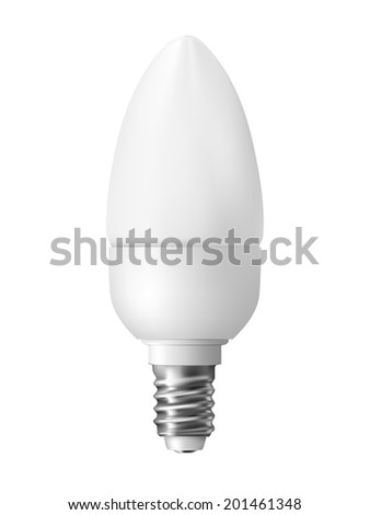 Energy efficient light bulb, photo realistic vector illustration - stock vector